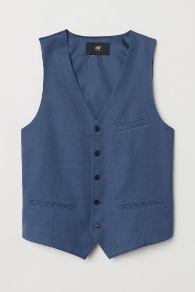 Suit Vest - Blue - Men | H&M US