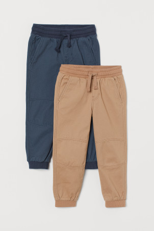 2-pack twill joggers