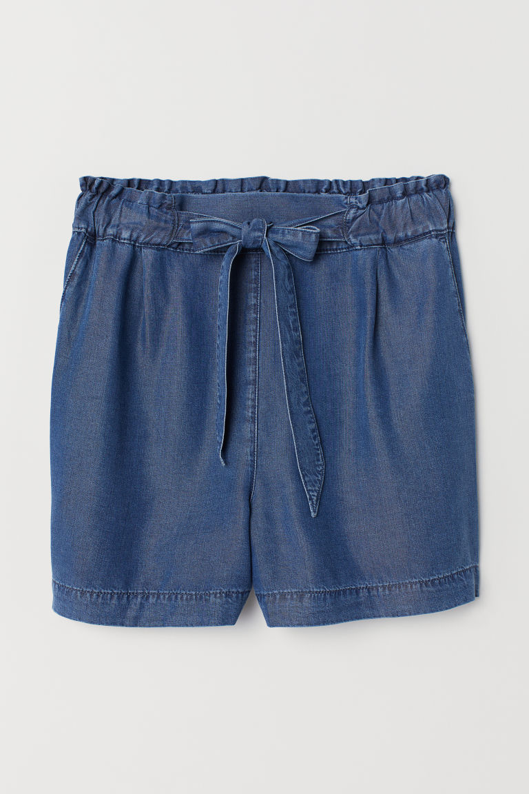 Shorts de denim High Waist - Azul denim -  | H&M MX