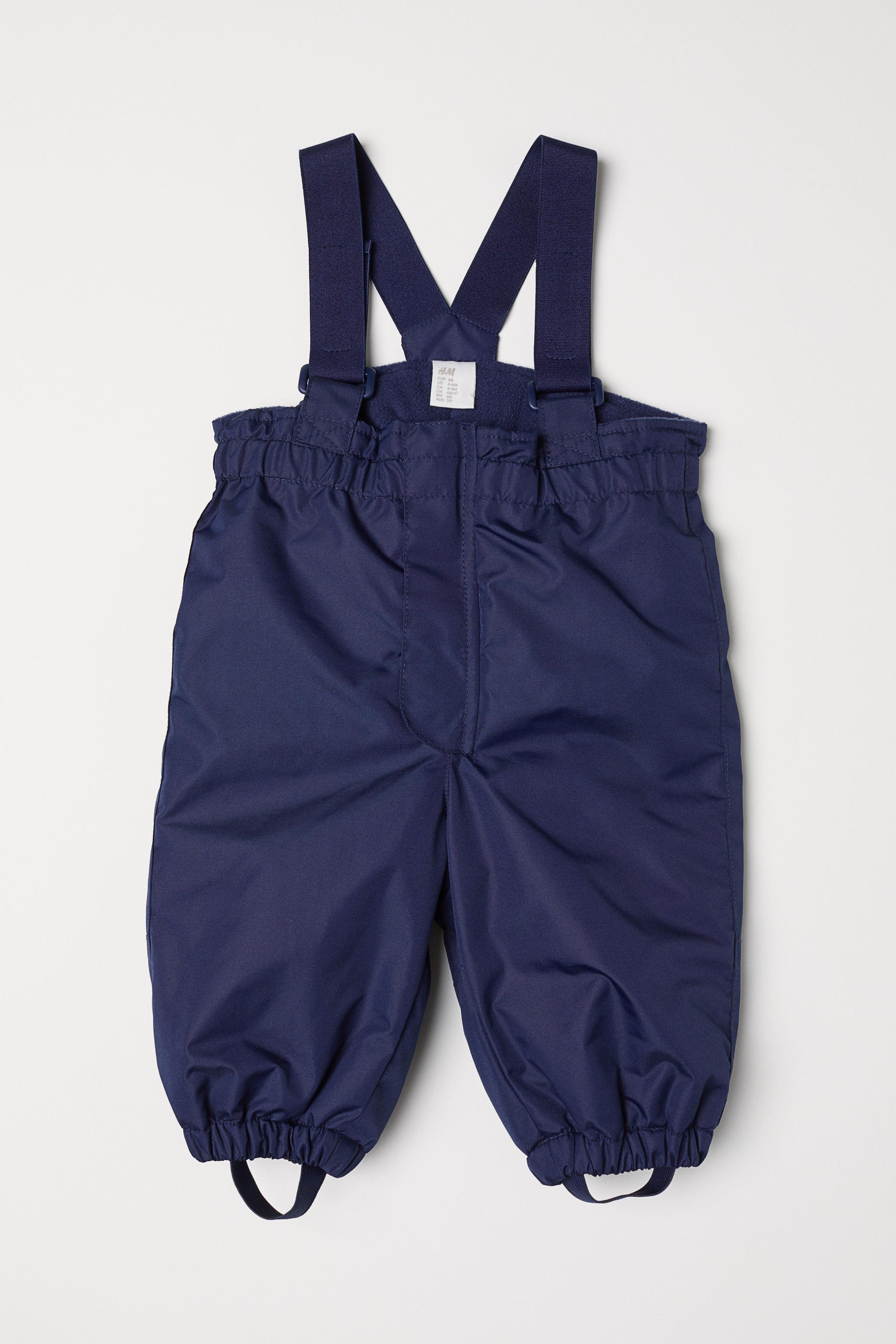 6592965719c6 Snow Pants with Suspenders - Dark blue - Kids