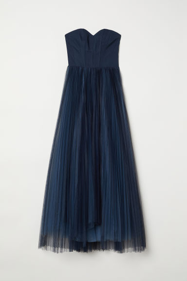Dress with a tulle skirt - Dark blue -  | H&M