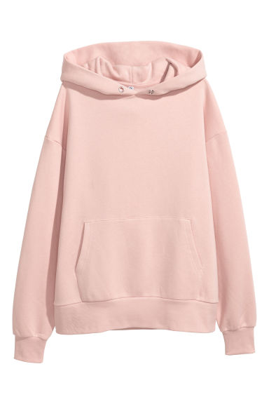 Oversized hooded top - Powder pink - Ladies | H&M