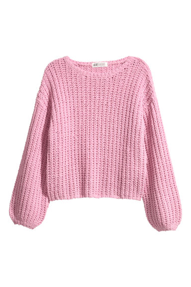 Chunky-knit jumper - Pink -  | H&M