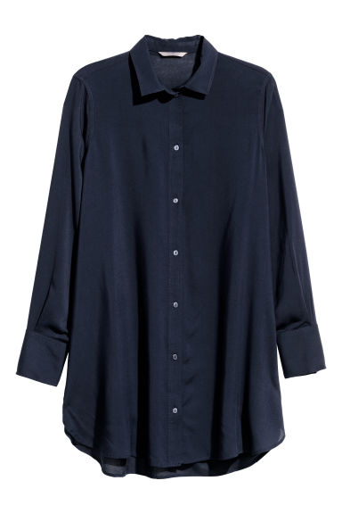 H&M+ Tunic - Dark blue - Ladies | H&M