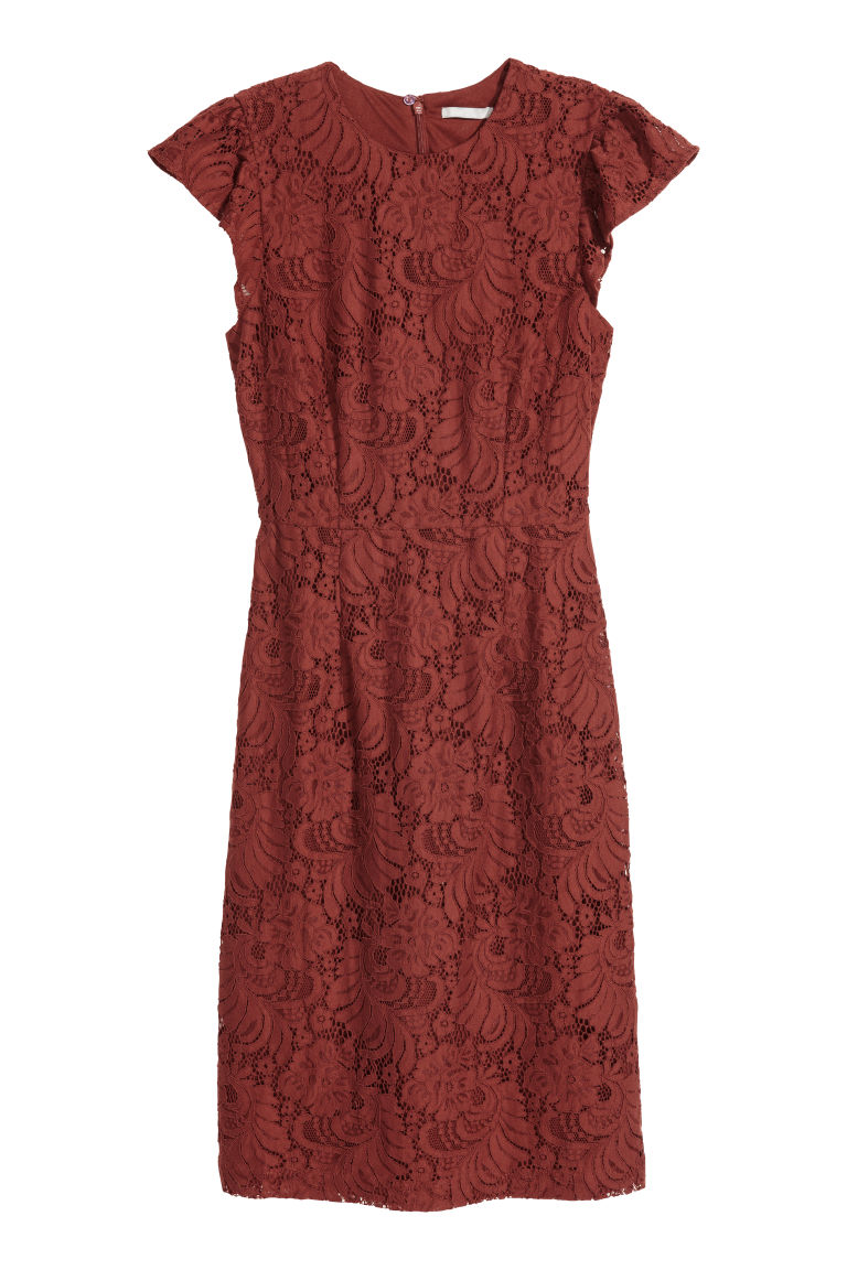 Lace dress - Rust - Ladies | H&M