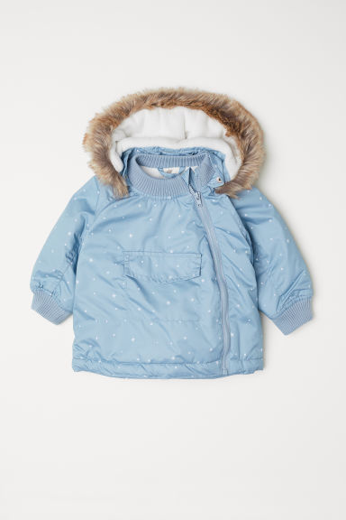 Padded outdoor jacket - Light turquoise/Stars - Kids | H&M CN