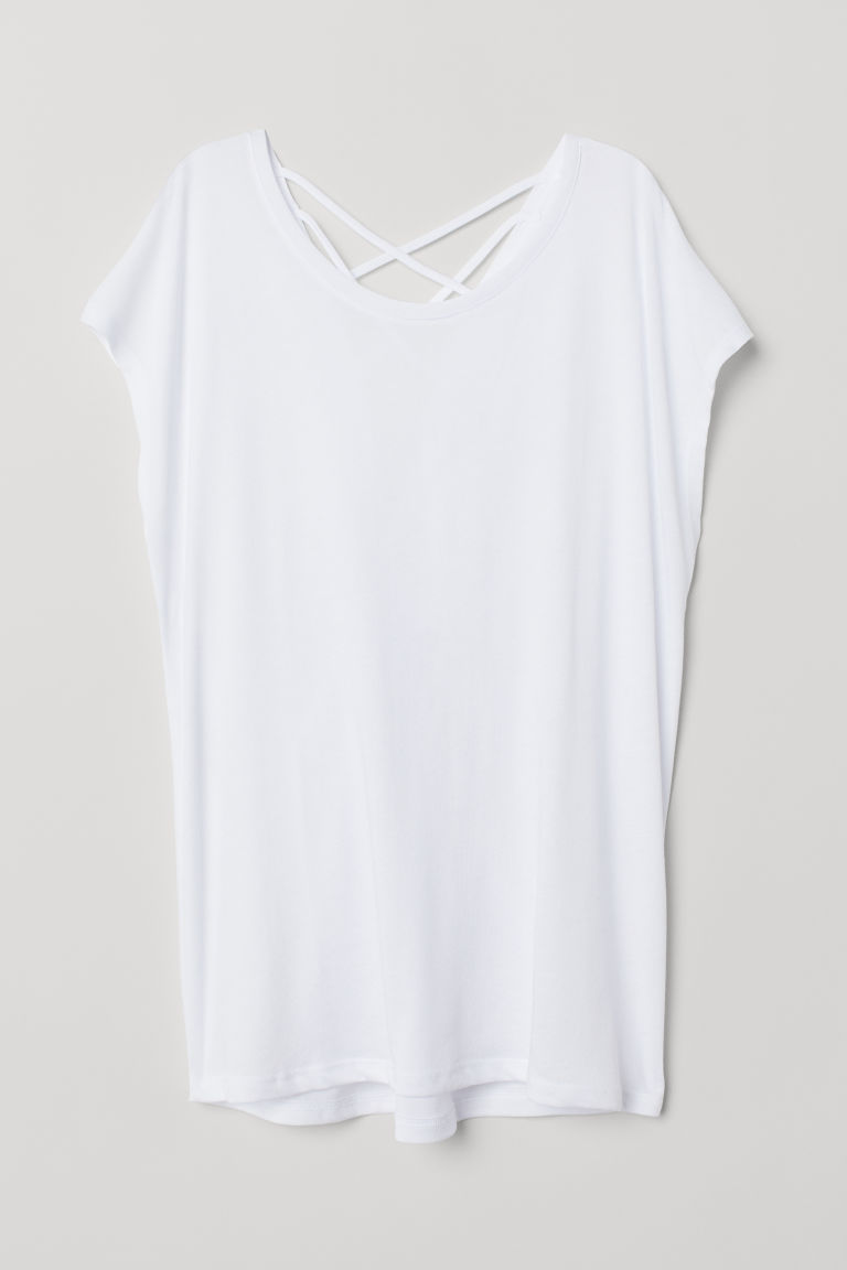 Top sportivo - Bianco - DONNA | H&M IT