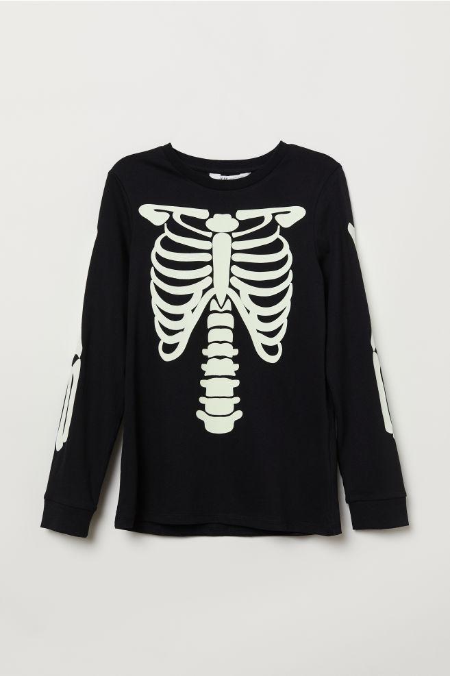 9559baec9 Printed Jersey Shirt - Black/skeleton - Kids | H&M ...