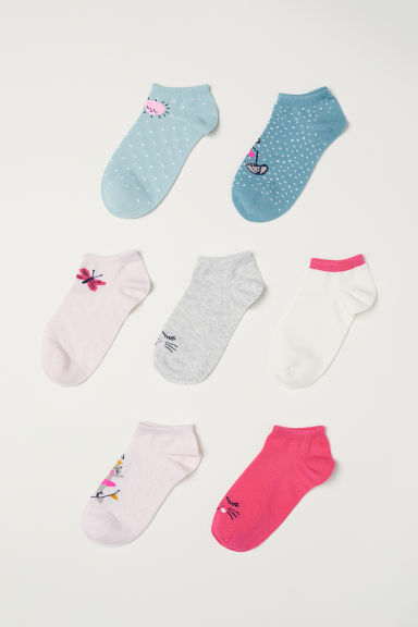 7-pack trainer socks - Cerise/Animals - Kids | H&M