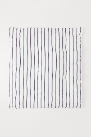 Patterned duvet cover - White/Striped - Home All | H&M CN
