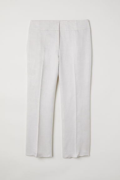 H&M+ Suit trousers - Natural white - Ladies | H&M CN