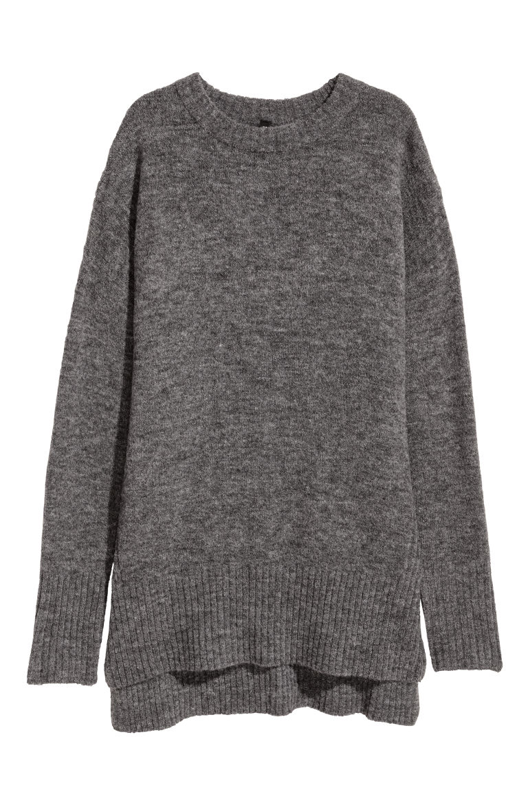 Knitted jumper - Dark grey - Ladies | H&M
