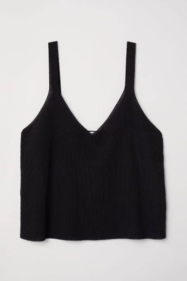Fine-knit top - Black - Ladies | H&M
