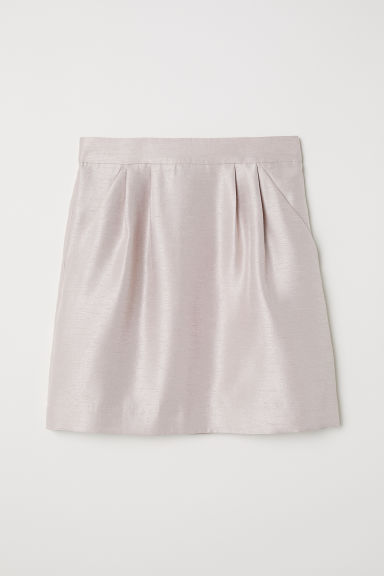Textured skirt - Beige/Slub - Ladies | H&M