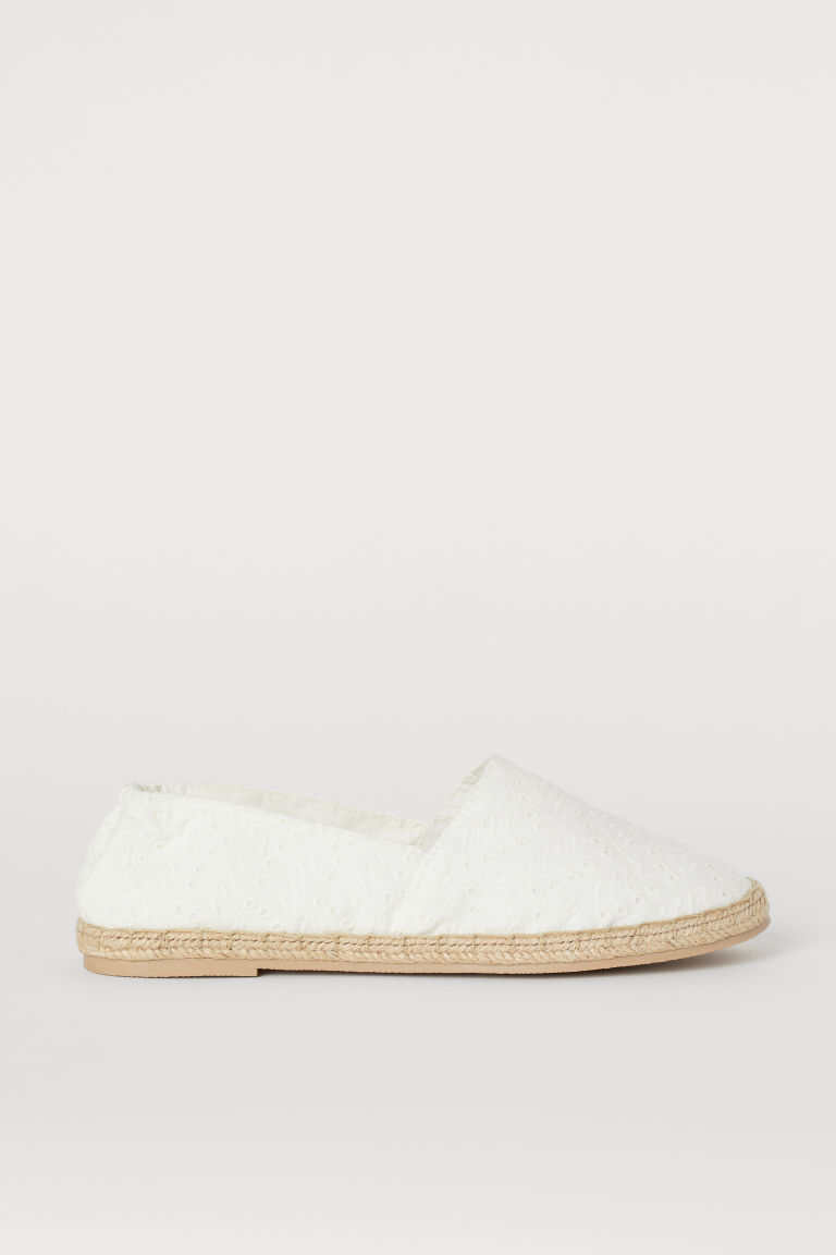 Espadrilles - Blanc/Broderie anglaise -  | H&M CH
