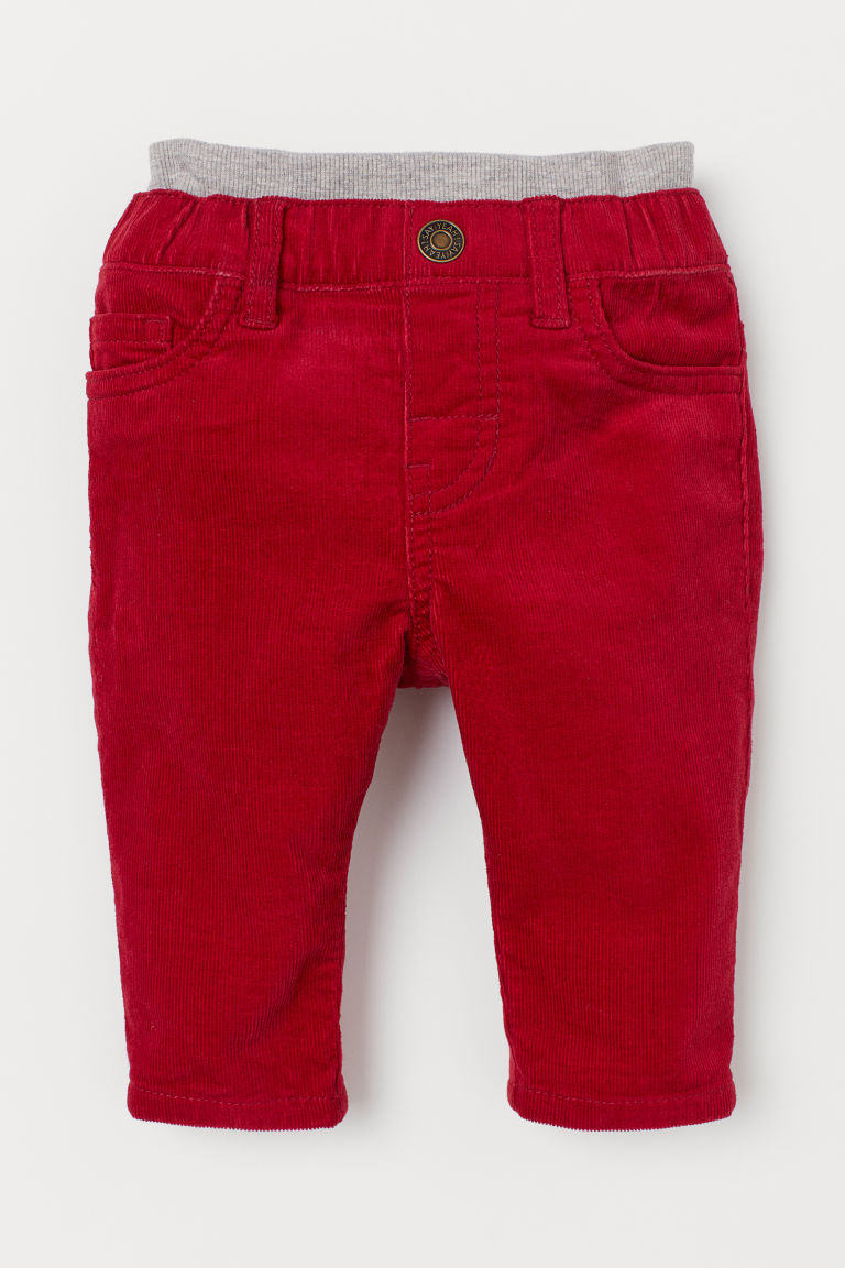 Pull-on corduroy trousers - Red - Kids | H&M