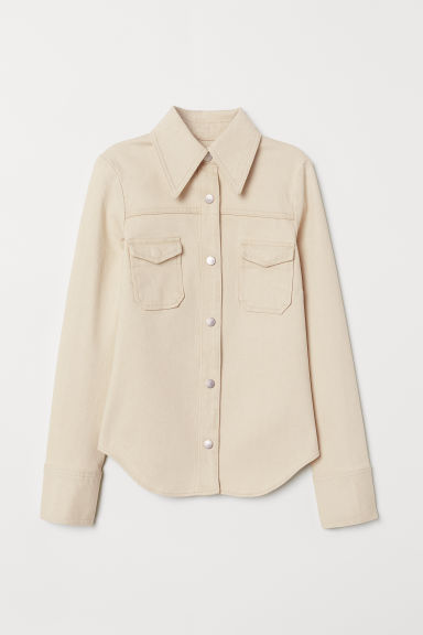 Denim shirt - Natural white - Ladies | H&M CN