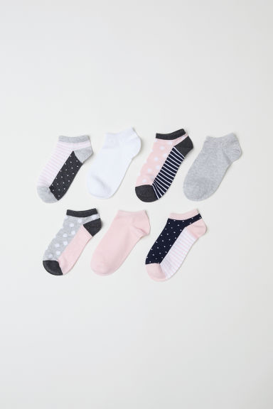 7-pack trainer socks - Grigio ch mélange/rosa cipria -  | H&M IT
