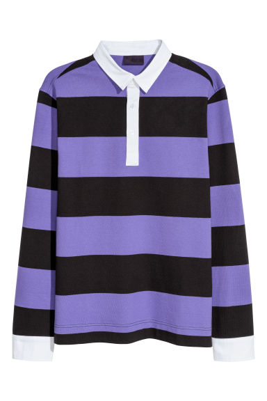 Rugby shirt - Purple/Black striped -  | H&M