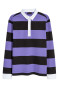 Purple/Black striped