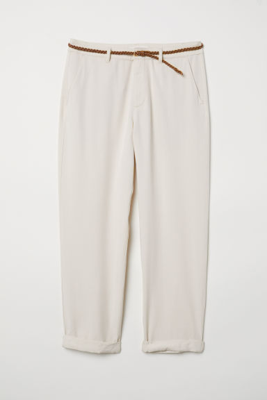 Lyocell-blend chinos - Light beige - Ladies | H&M