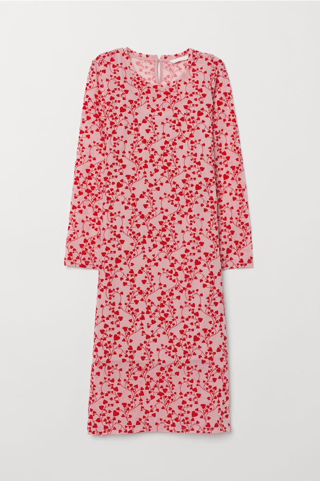 c47b4ccf2911 Patterned Dress - Light pink/hearts - | H&M ...