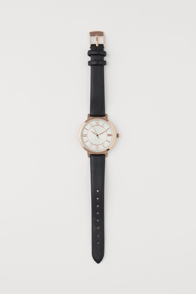 Watch - Black/Rose gold-coloured - Ladies | H&M CN