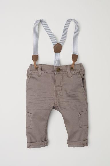 dernier plutôt sympa découvrir les dernières tendances Pantalon à bretelles