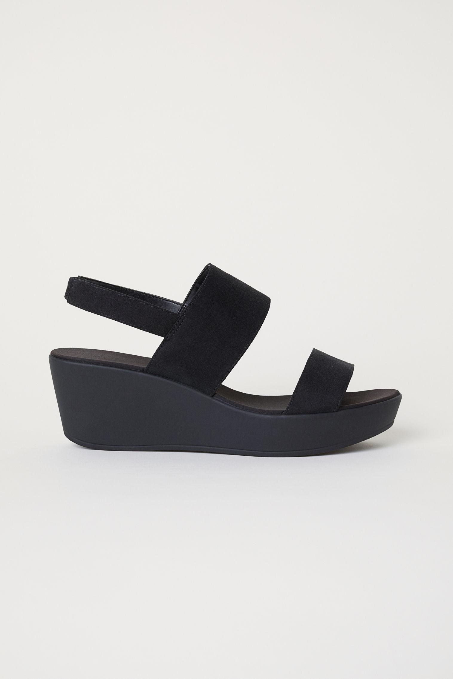 771262d69c9 Wedge-heel Sandals - Black - Ladies
