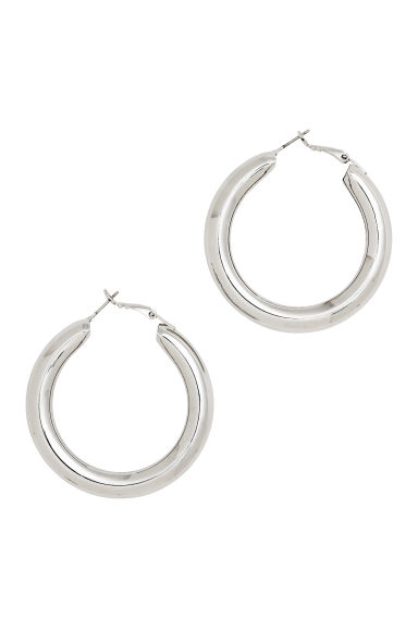 Chunky earrings - Silver-coloured - Ladies | H&M GB