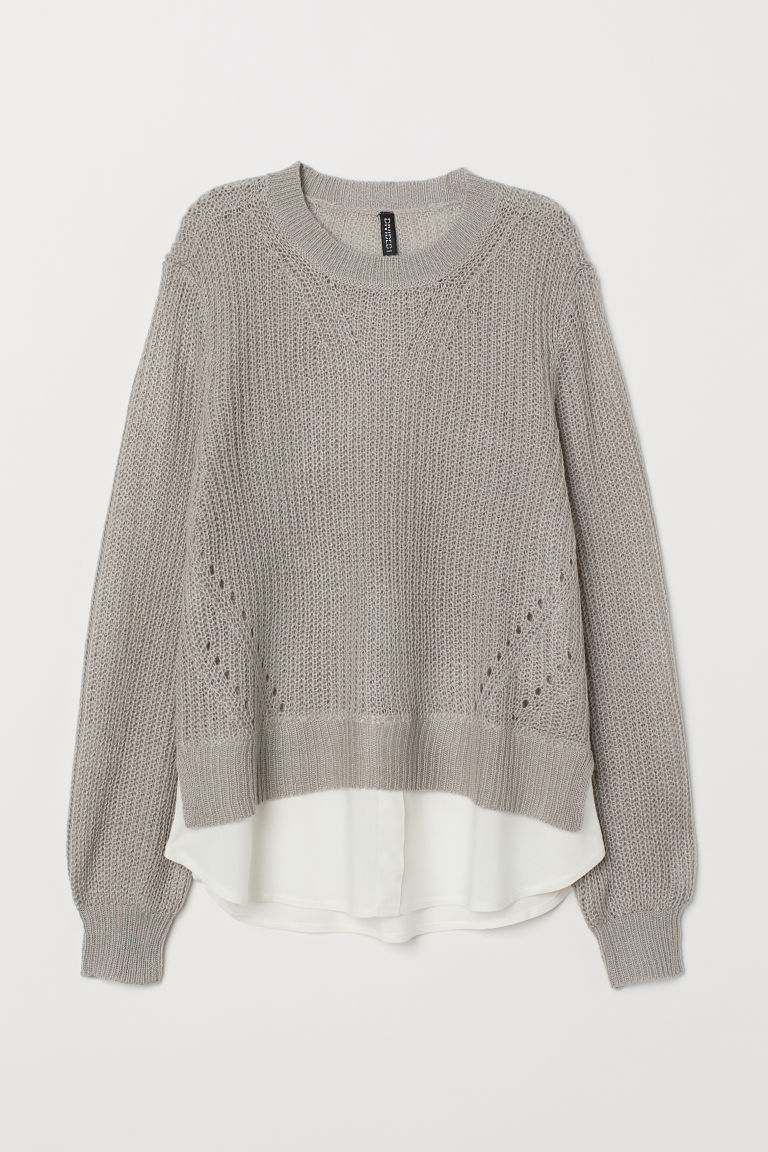 Loose-knit jumper - Grey -  | H&M