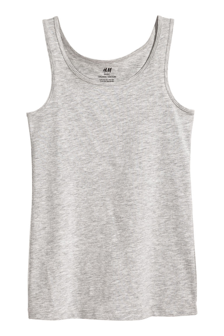 Jersey vest top - Grey marl - Kids | H&M CN
