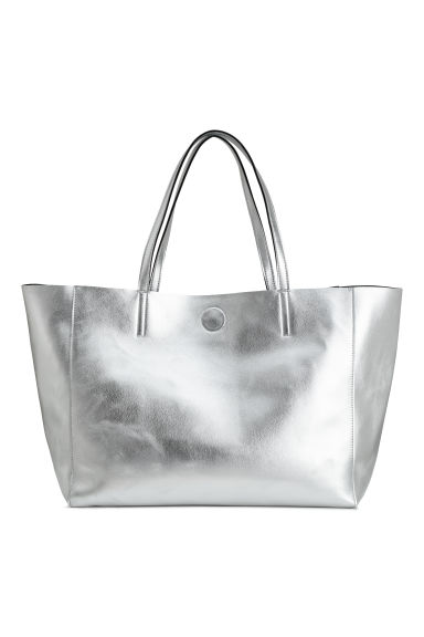 Metallic shopper - Zilverkleurig - DAMES | H&M BE