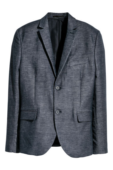 Jacket Slim fit - Dark blue marl -  | H&M GB
