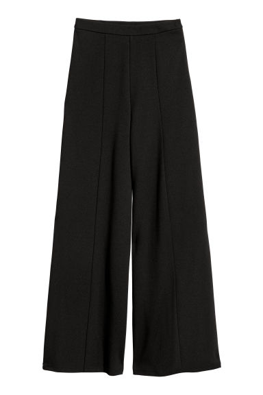 Wide trousers - Black - Ladies | H&M IE