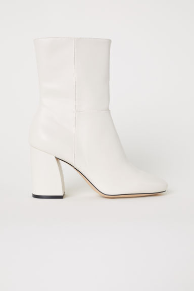 Boots with a zip - Natural white - Ladies | H&M GB