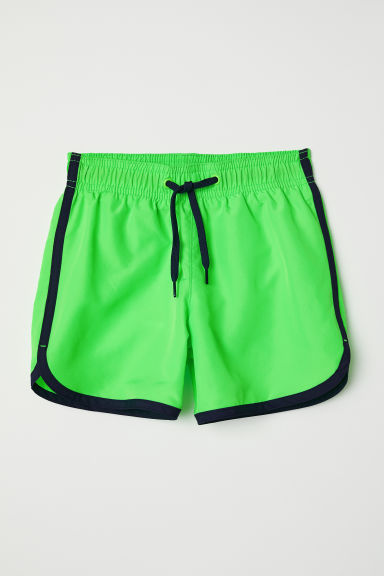 Swim shorts - Neon green - Kids | H&M