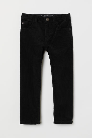 Corduroy trousers - Black - Kids | H&M