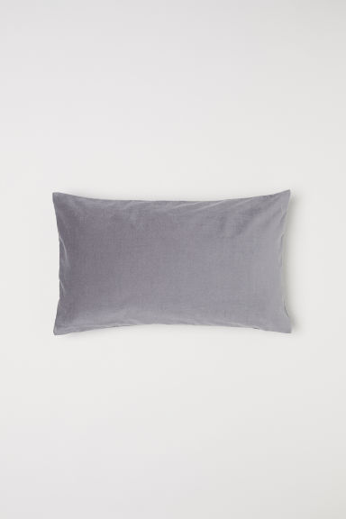 Velvet cushion cover - Dark grey - Home All | H&M CN