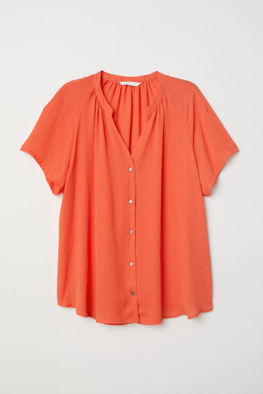 V-neck blouse - Orange - Ladies | H&M