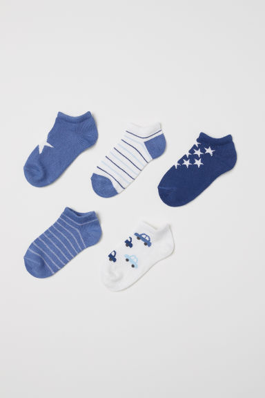 5-pack trainer socks - Dark blue/Stars - Kids | H&M