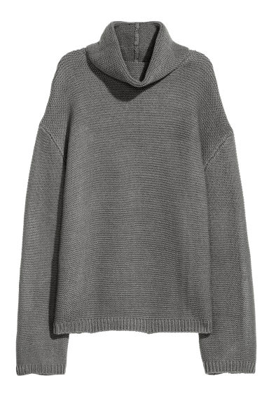 Pullover a collo alto - Grigio scuro -  | H&M IT