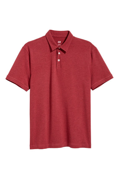 Polo Slim fit - Rosso scuro mélange -  | H&M IT