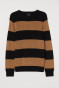 Beige/Black striped