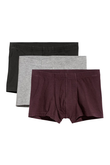 3-pack short trunks - Dark red/Multicoloured - Men | H&M IE
