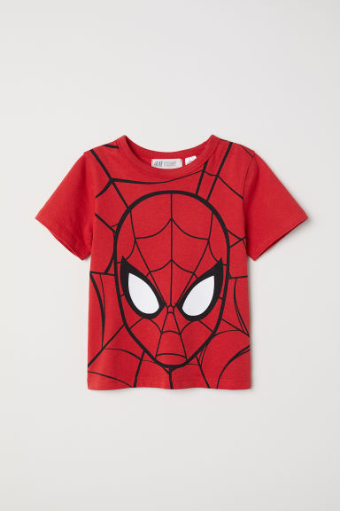 Printed T-shirt - Red/Spider-Man - Kids | H&M