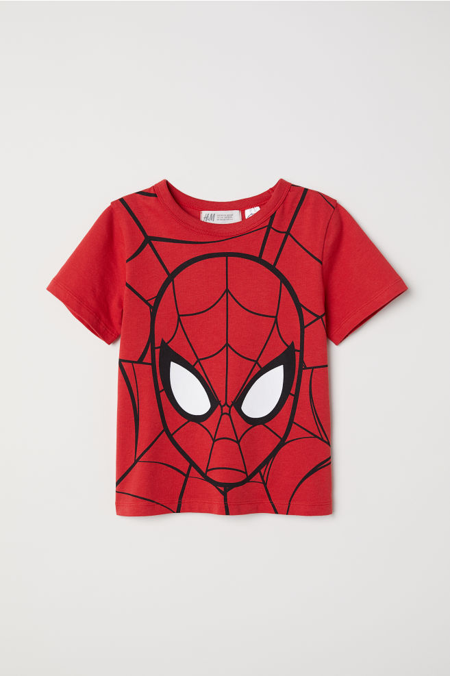 ab3b59f9 Printed T-shirt - Red/Spider-Man - Kids | H&M IN 1