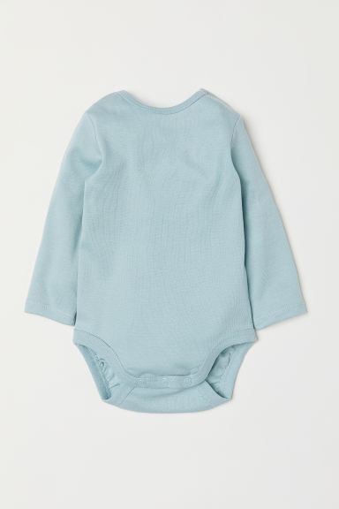 Long-sleeved bodysuit - Light turquoise - Kids | H&M