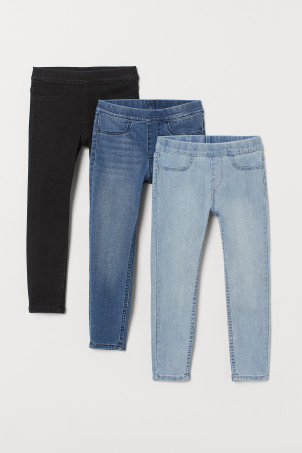 3er-Pack Denimleggings