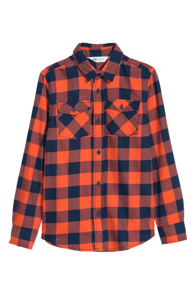 Flannel shirt - Light red/Checked - Kids | H&M